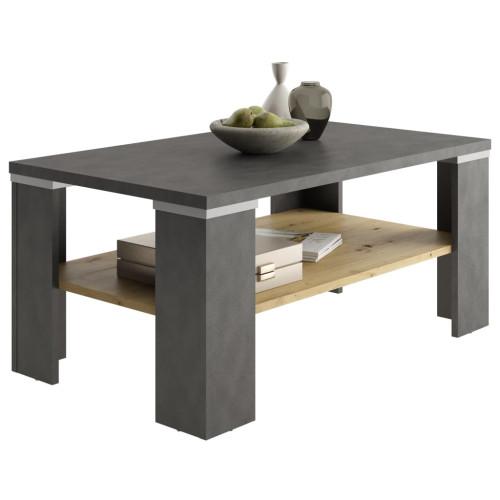 FMD FMD Soffbord med hylla materagrå och artisan-ek