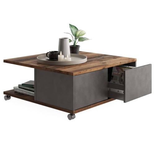 FMD FMD Soffbord med hjul gammeldags brun