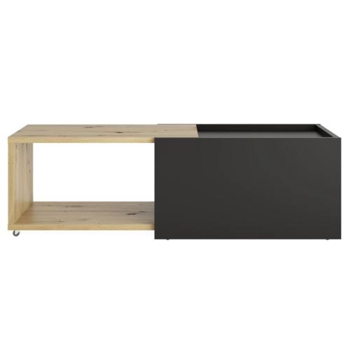 FMD FMD Utdragbart soffbord artisan-ek och svart