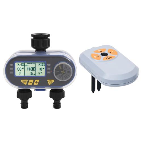 vidaXL Digital bevattningstimer med två uttag och fuktsensor