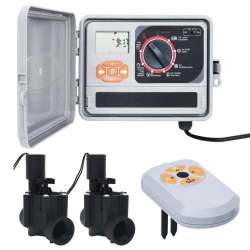 vidaXL Bevattningskontroll med fuktsensor & magnetventil