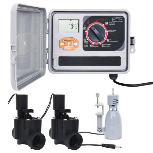 vidaXL Bevattningskontroll med regnsensor & magnetventil