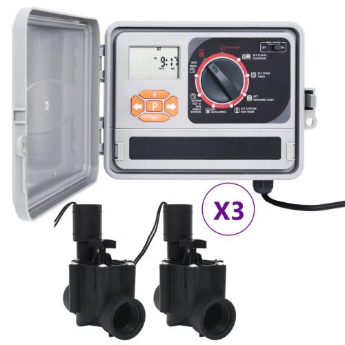 vidaXL Bevattningskontroll med 6 magnetventiler