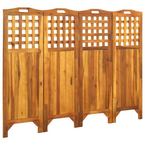 vidaXL Rumsavdelare 4 paneler 161x2x120 cm massivt akaciaträ