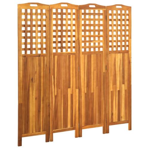 vidaXL Rumsavdelare 4 paneler 161x2x170 cm massivt akaciaträ
