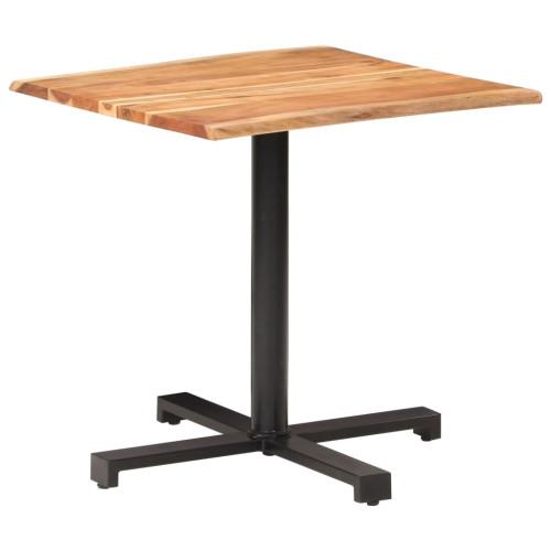 vidaXL Cafébord med levande kanter 80x80x75 cm massivt akaciaträ