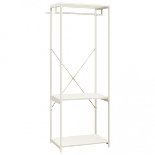 vidaXL Garderob vit 60x40x167 cm metall och spånskiva