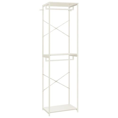 vidaXL Garderob vit 60x40x213 cm metall och spånskiva