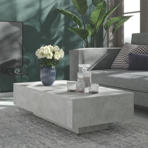 vidaXL Soffbord betonggrå 115x60x31 cm spånskiva