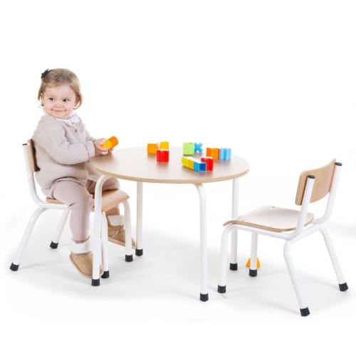 CHILDHOME CHILDHOME Barnbord runt naturträ och vit