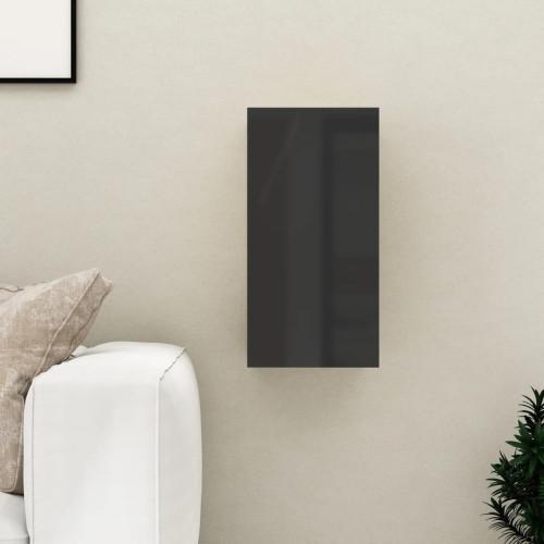 vidaXL TV-skåp svart högglans 30,5x30x60 cm spånskiva