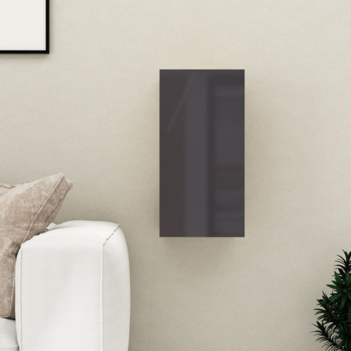 vidaXL TV-skåp grå högglans 30,5x30x60 cm spånskiva