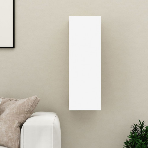 vidaXL TV-skåp vit 30,5x30x90 cm spånskiva