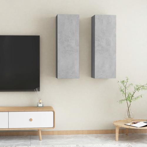 vidaXL TV-skåp 2 st betonggrå 30,5x30x90 cm spånskiva