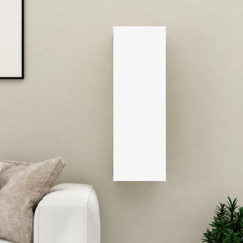vidaXL TV-skåp vit och sonoma-ek 30,5x30x90 cm spånskiva
