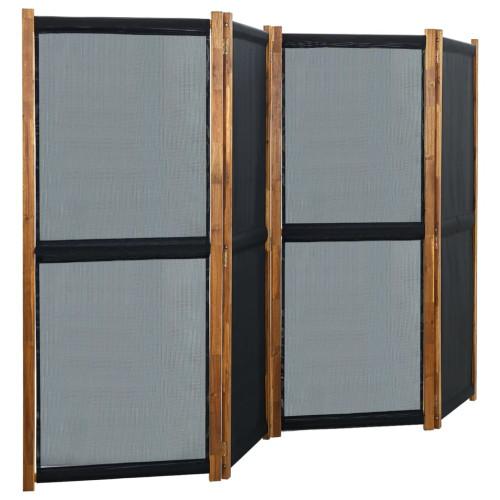 vidaXL Rumsavdelare 4 paneler svart 280x170 cm