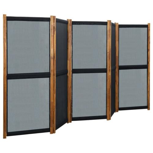 vidaXL Rumsavdelare 5 paneler svart 350x170 cm