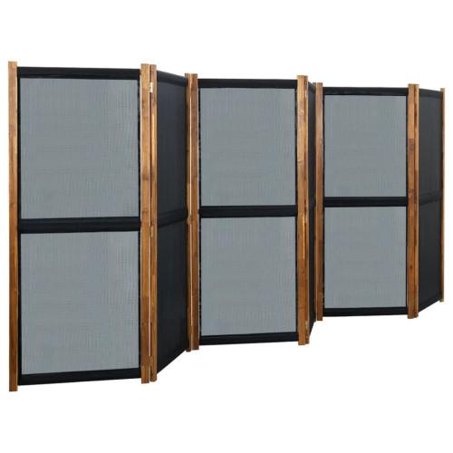 vidaXL Rumsavdelare 6 paneler svart 420x170 cm