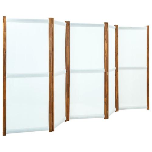 vidaXL Rumsavdelare 5 paneler gräddvit 350x170 cm