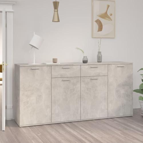 vidaXL Skänk betonggrå 160x36x75 cm spånskiva