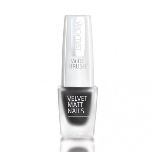 isadora Velvet Matt Nails Black Caviar