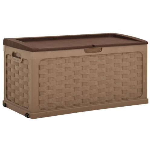 vidaXL Dynbox 335 liter brun PP