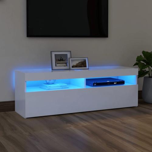 vidaXL TV-bänk med LED-belysning vit 120x35x40 cm