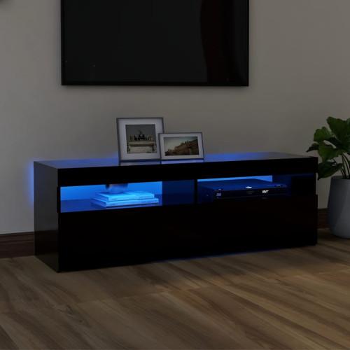 vidaXL TV-bänk med LED-belysning svart 120x35x40 cm
