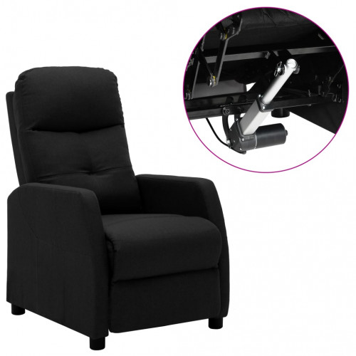 vidaXL Elektrisk reclinerfåtölj svart tyg