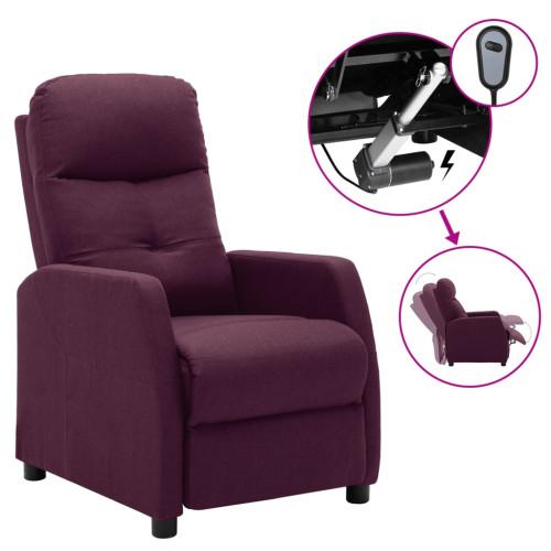 vidaXL Elektrisk reclinerfåtölj lila tyg