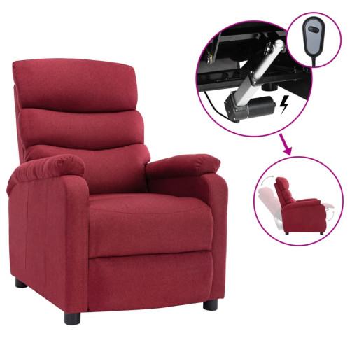 vidaXL Elektrisk reclinerfåtölj vinröd tyg