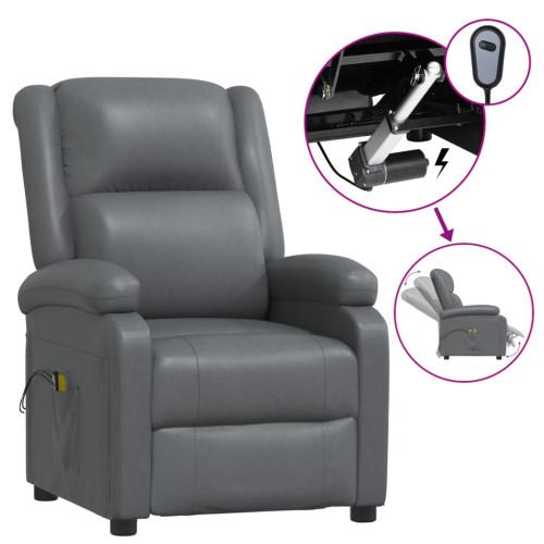 vidaXL Elektrisk massagefåtölj antracit konstläder