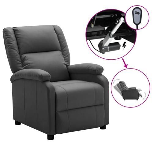 vidaXL Elektrisk reclinerfåtölj antracit konstläder