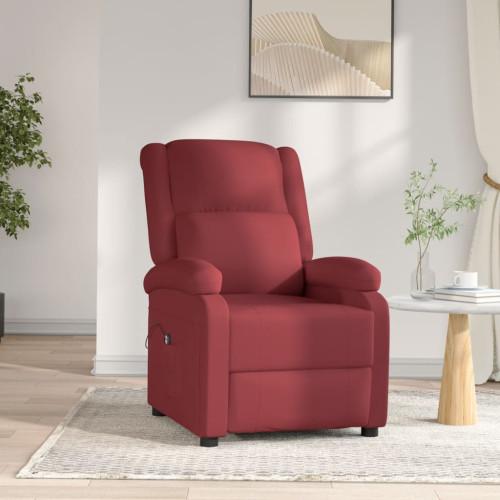 vidaXL Elektrisk reclinerfåtölj vinröd konstläder