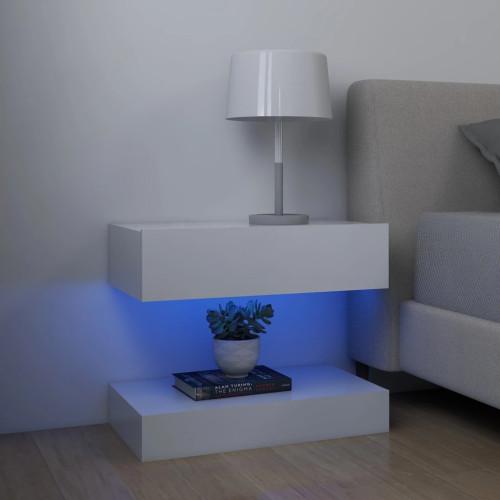vidaXL Sängbord vit 60x35 cm spånskiva