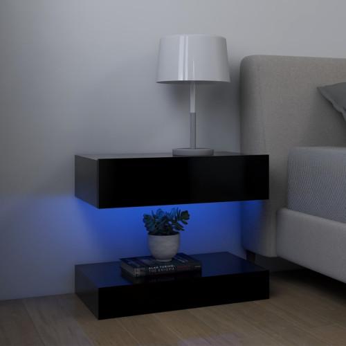 vidaXL Sängbord svart 60x35 cm spånskiva