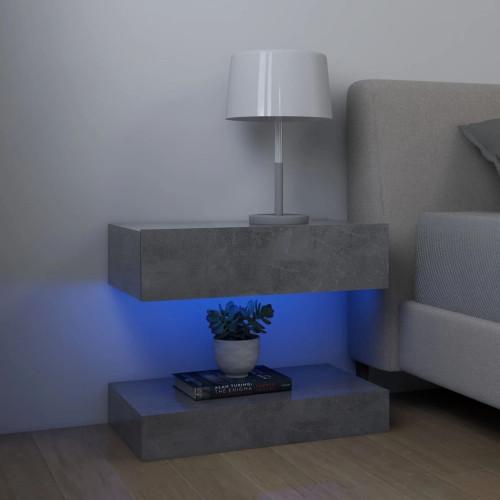 vidaXL Sängbord betonggrå 60x35 cm spånskiva