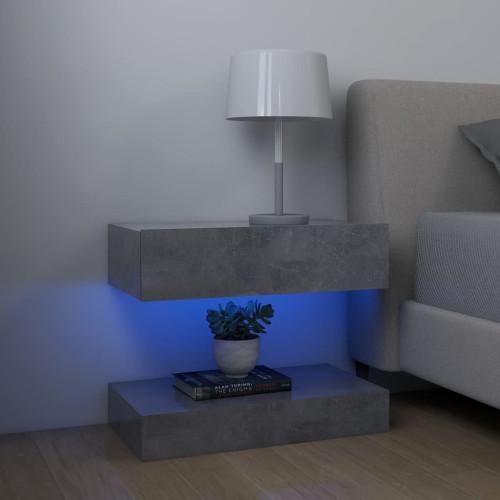 vidaXL Sängbord 2 st betonggrå 60x35 cm spånskiva