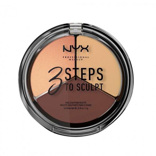 NYX Professional Makeup NYX PROF. MAKEUP 3 Steps To Sculpt Face Sculpting Palette - Medium