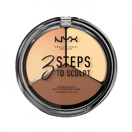 NYX Professional Makeup NYX PROF. MAKEUP 3 Steps To Sculpt Face Sculpting Palette - Light