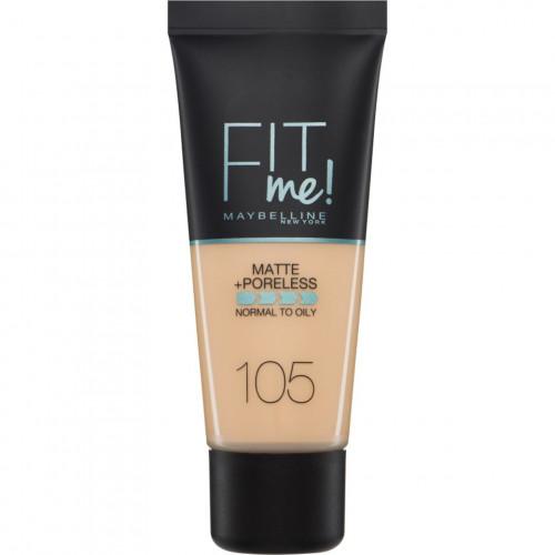 Maybelline Fit Me Matte + Poreless Foundation- 105 Natural Ivory