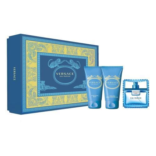 Versace  Giftset Versace Man Eau Fraiche Edt 50ml + ASB 50ml + B&SG 50ml