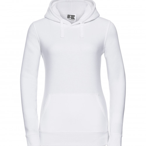 Russell Ladies Authentic Hooded Sweat White