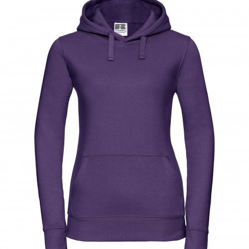 Russell Ladies Authentic Hooded Sweat Purple