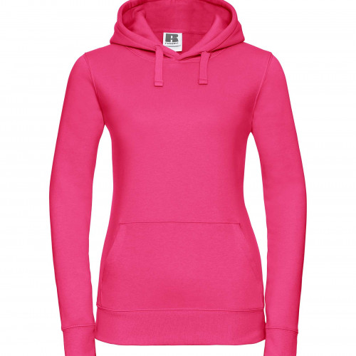 Russell Ladies Authentic Hooded Sweat Fuchsia