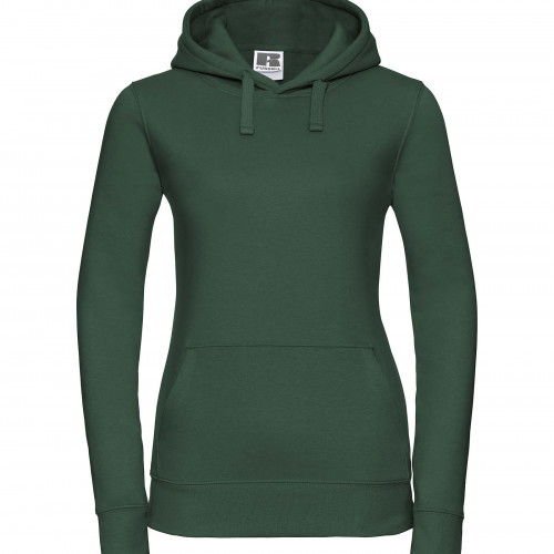Russell Ladies Authentic Hooded Sweat Bottle Green