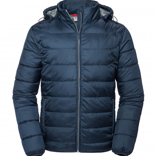 Russell Men's Hooded Nano Jacket French Navy