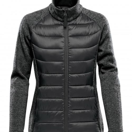 Stormtech Women's Aspen Hybrid Jacket Black/DolphinHeather