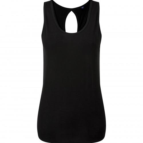 Tri Dri Womens TriDri® Yoga Vest with Knot back Black