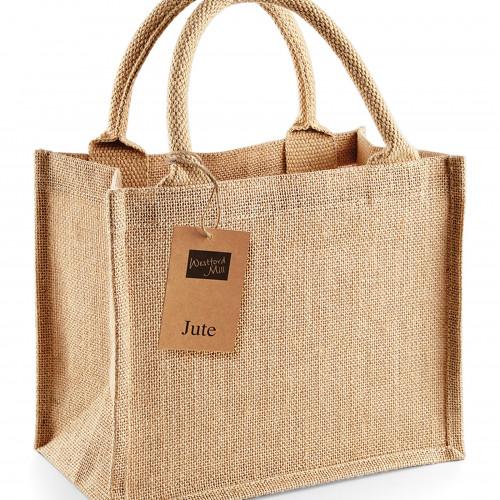 Westford Mill Jute Mini Gift Bag Natural